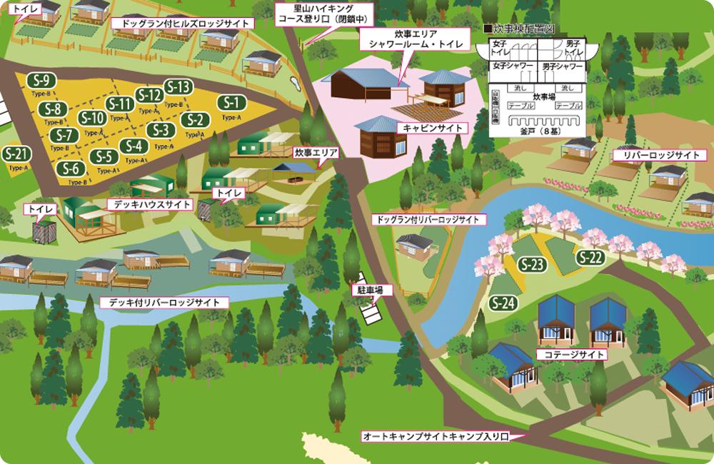 オートキャンプ施設MAP